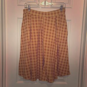 Mustard Yellow Checked Lola Skirt